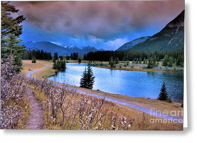 Alberta Landscape Greeting Cards - Brooding Skies Greeting Card by Tara Turner