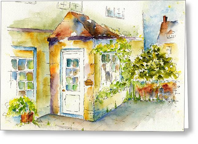 Brook Paintings Greeting Cards - Brook House Greeting Card by Pat Katz