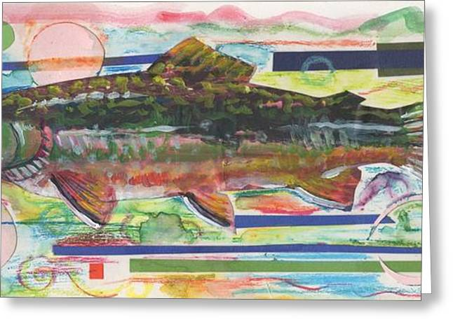 Trout Mixed Media Greeting Cards - Brook Trout 1 Greeting Card by Michelle Grove