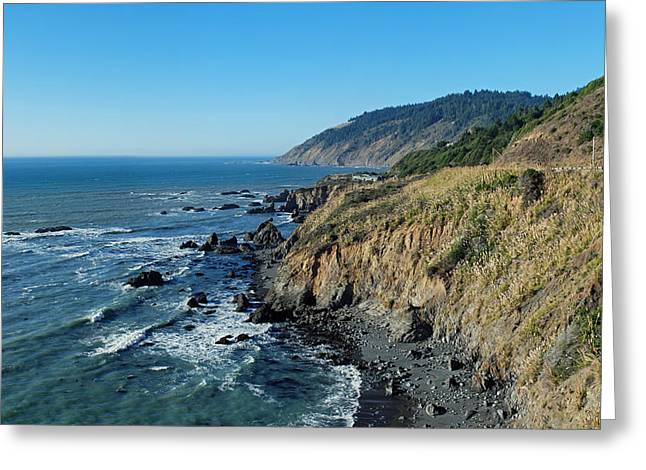 Ocean Panorama Greeting Cards - Brookings Oregon Coastline Greeting Card by Twenty Two North Photography
