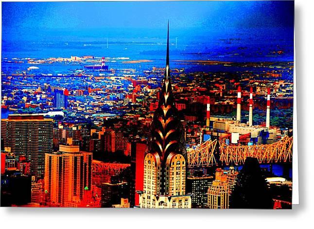 Times Square Pyrography Greeting Cards - Brooklyn Bridge Greeting Card by Fareeha Khawaja