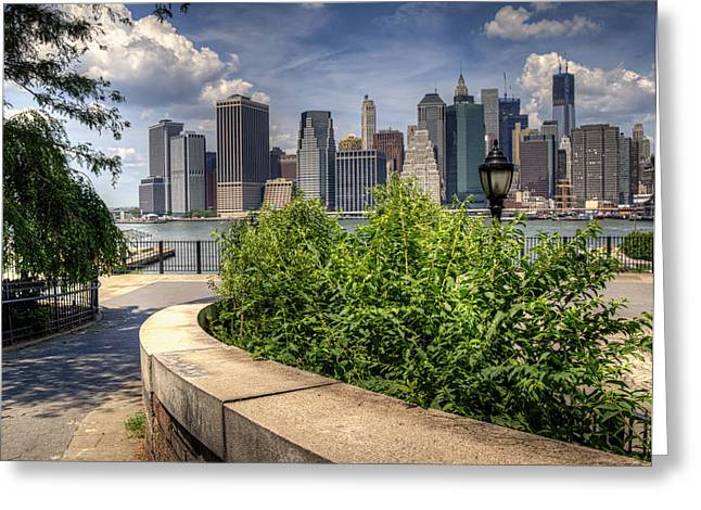 Brooklyn Promenade Greeting Cards - Brooklyn Promenade Greeting Card by Vicki Jauron