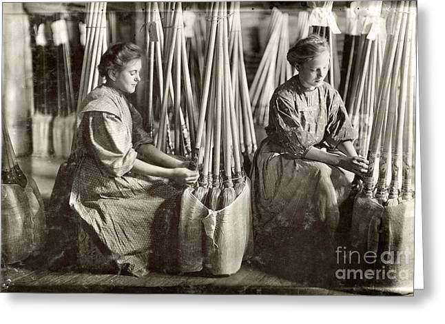 BROOM MANUFACTURE, 1908 Greeting Card by Granger