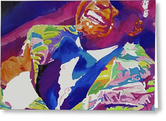 Brother Ray Charles Greeting Card by David Lloyd Glover