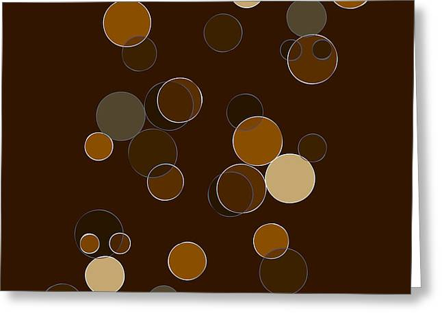 Geometrical Art Mixed Media Greeting Cards - Brown Abstract Greeting Card by Frank Tschakert