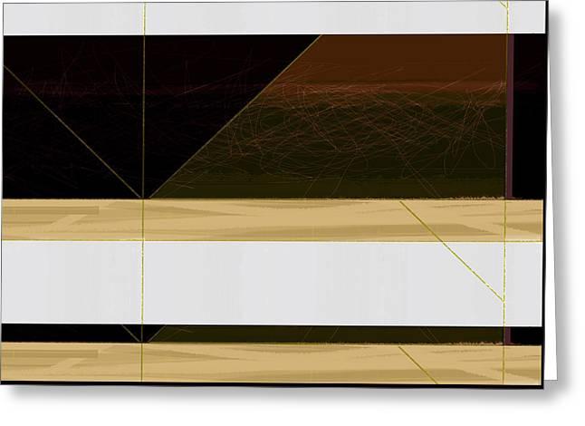 Brown Field Greeting Card by Naxart Studio