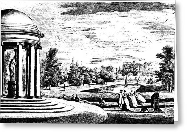 Lancelot Greeting Cards - Brown: Stowe Park, 1753 Greeting Card by Granger