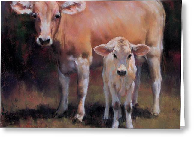 Swiss Pastels Greeting Cards - Brown Swiss Greeting Card by Brian Freeman