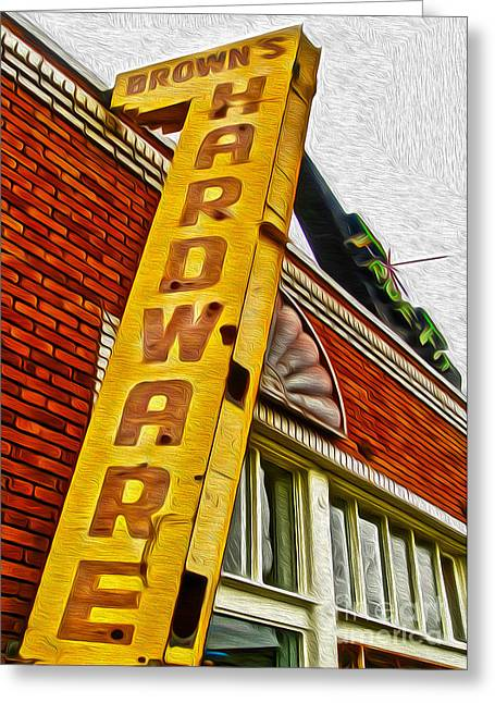 Gregory Dyer Greeting Cards - Browns Harware Greeting Card by Gregory Dyer