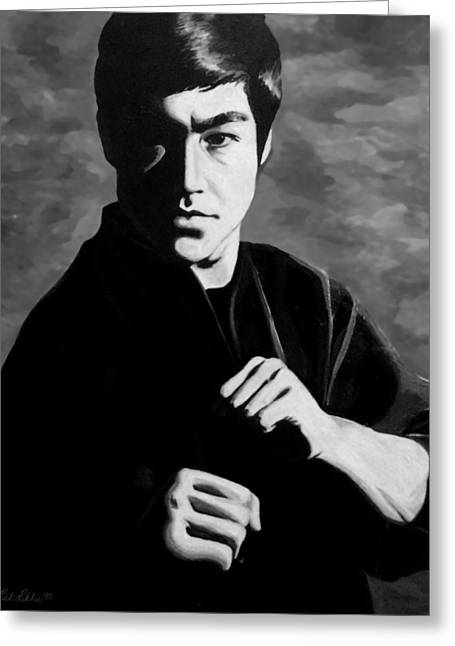Tao Greeting Cards - Bruce Lee Greeting Card by Rick Ritchie