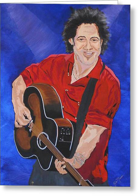 Etc. Paintings Greeting Cards - Bruce Springsteen-An American Boy Greeting Card by Bill Manson