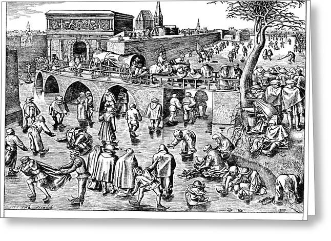Francis Greeting Cards - Bruegel: Ice Skaters Greeting Card by Granger