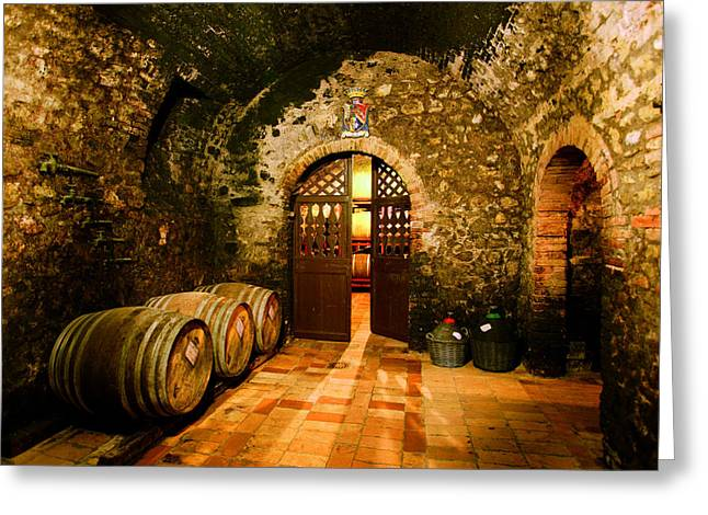 Cellar Greeting Cards - Brunello Vecchio Greeting Card by John Galbo