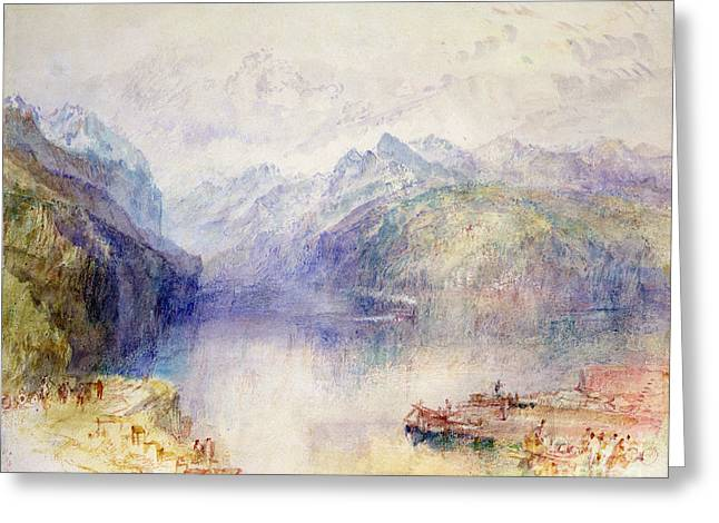 Jmw Greeting Cards - Brunnen  Greeting Card by Joseph Mallord William Turner