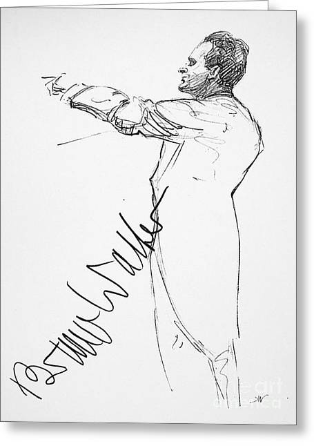 Autograph Greeting Cards - Bruno Walter (1876-1962) Greeting Card by Granger