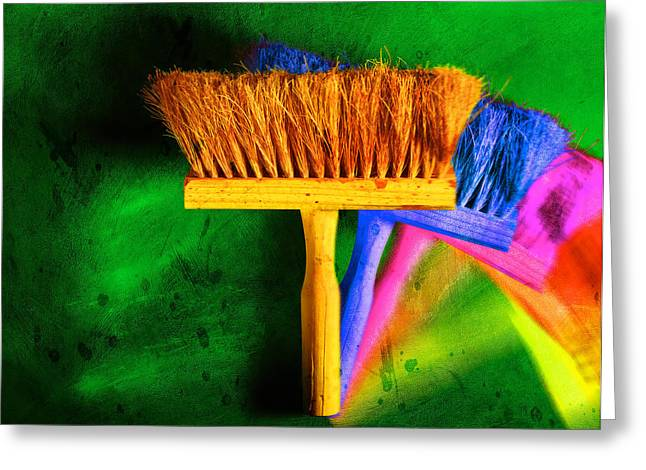 Brush Greeting Card by Mauro Celotti