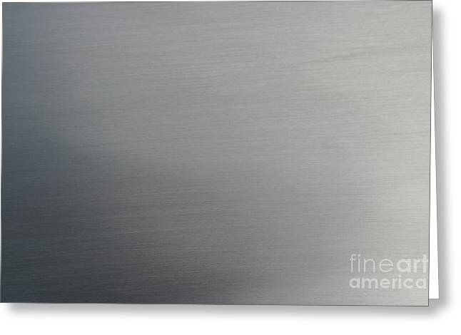 Metal Sheet Greeting Cards - Brushed Metal Greeting Card by Henrik Lehnerer