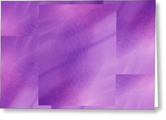 Manipulated Digital Photograph Greeting Cards - Brushed Purple Violet 1 Greeting Card by Tim Allen