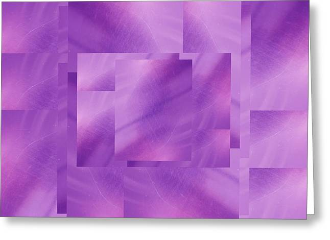 Manipulated Digital Photograph Greeting Cards - Brushed Purple Violet 2 Greeting Card by Tim Allen