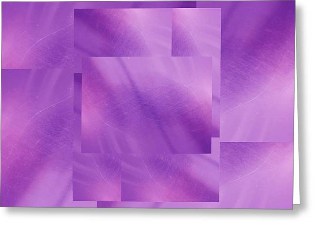 Manipulated Digital Photograph Greeting Cards - Brushed Purple Violet 5 Greeting Card by Tim Allen