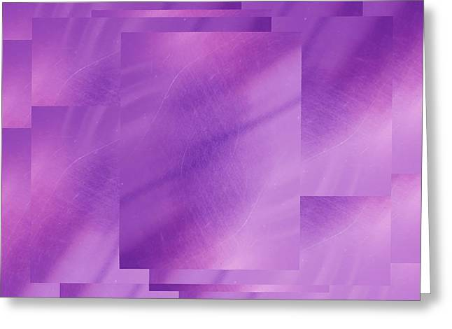 Manipulated Digital Photograph Greeting Cards - Brushed Purple Violet 6 Greeting Card by Tim Allen