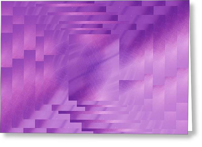 Manipulated Digital Photograph Greeting Cards - Brushed Purple Violet 8 Greeting Card by Tim Allen