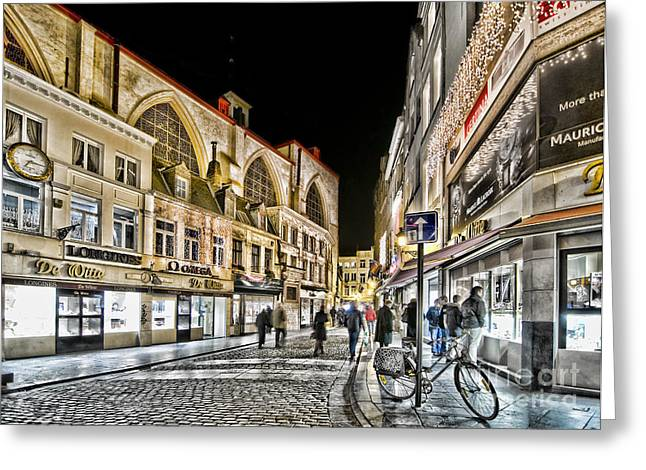 Longines Greeting Cards - Brussels street Greeting Card by Bogdan Ivan