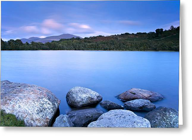 Summer Squall Greeting Cards - Brynteg Lake Greeting Card by Michael Stretton