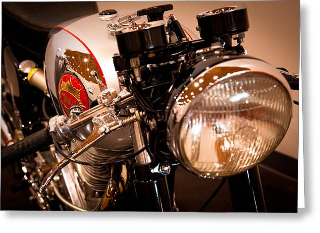 Handle Bar Greeting Cards - BSA DBD34GS Goldstar Clubman Greeting Card by David Patterson