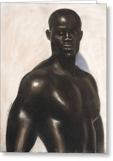 Black Man Pastels Greeting Cards - Bubba Lonzo Greeting Card by L Cooper