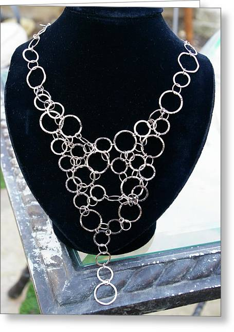 Chain Jewelry Greeting Cards - Bubble Chain Greeting Card by Susan Geluz