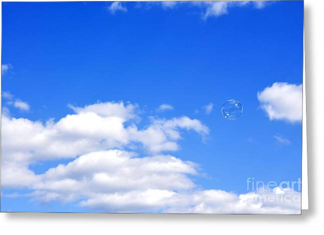 Aimless Greeting Cards - Bubble in Air Greeting Card by Thomas R Fletcher