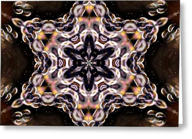 Color Wheel Art Greeting Cards - Bubble Kaleidoscope Greeting Card by Laura Mountainspring