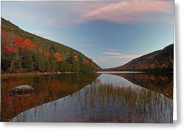 Maine Shore Greeting Cards - Bubble Pond at Autumn Glory Greeting Card by Juergen Roth