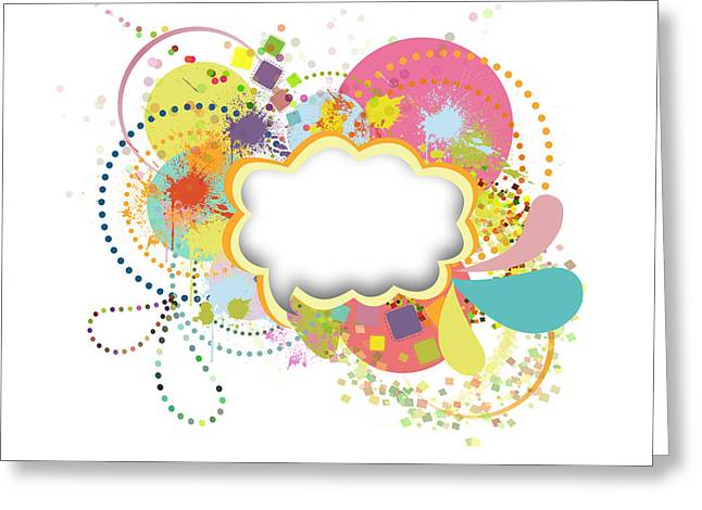 Blank Greeting Cards Greeting Cards - Bubble Speech Greeting Card by Setsiri Silapasuwanchai
