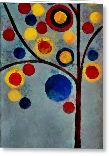 Grungy Paintings Greeting Cards - Bubble Tree - dps02c02f - Left Greeting Card by Variance Collections