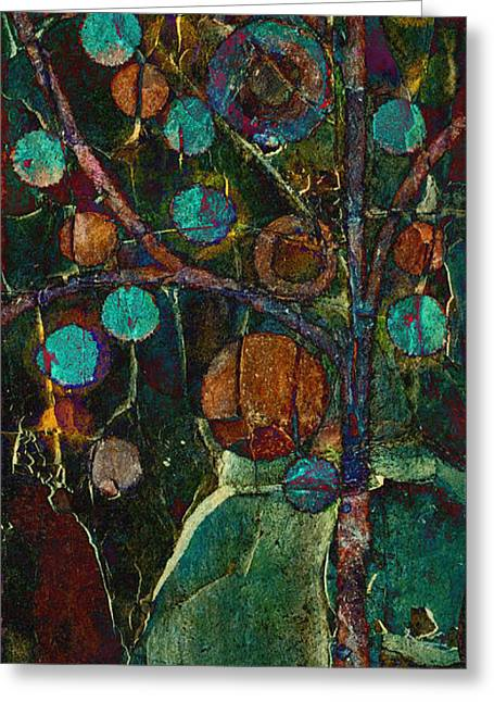 Tree Art Greeting Cards - Bubble Tree - spc01ct04 - Left Greeting Card by Variance Collections