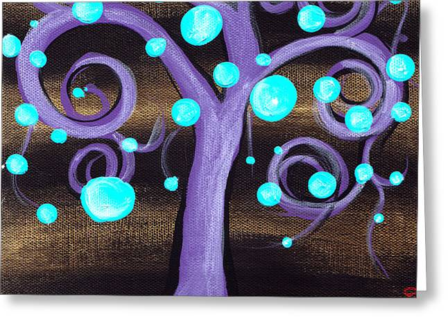Abril Andrade Greeting Cards - Bubblegum Tree Greeting Card by  Abril Andrade Griffith