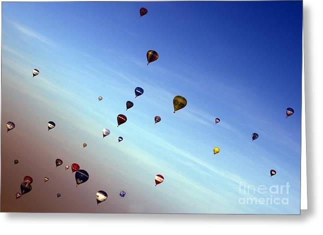 Balloon Fiesta Greeting Cards - Bubbles Greeting Card by Angel  Tarantella