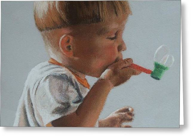 Bubbles Greeting Card by Blanche Guernsey