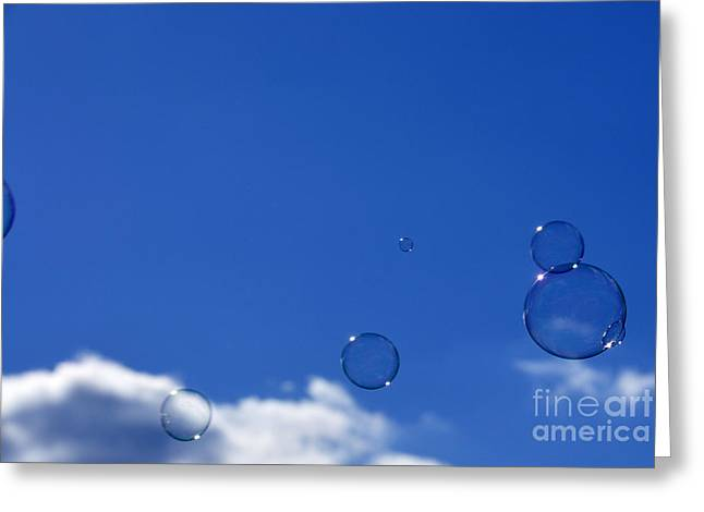Aimless Greeting Cards - Bubbles in Air Greeting Card by Thomas R Fletcher