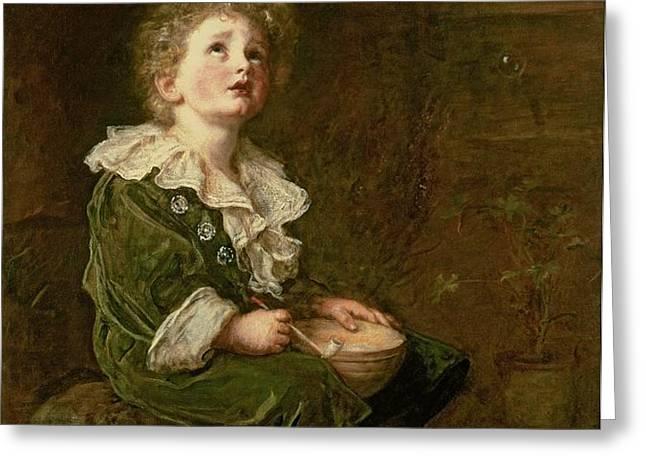 Bubbles Greeting Card by Sir John Everett Millais