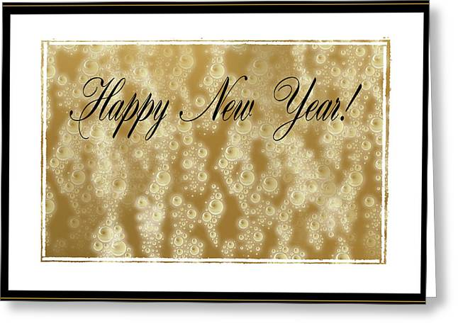 Toast Greeting Cards - Bubbly New Year Greeting Card by Kristin Elmquist