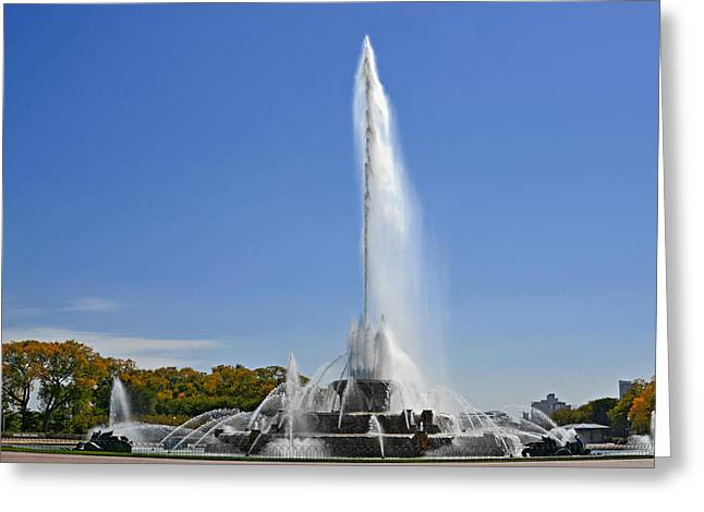 Buckingham Fountain - Chicago's Iconic landmark Greeting Card by Christine Till