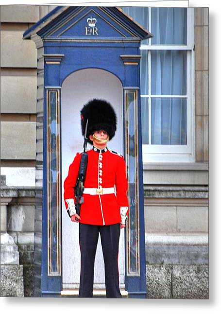 Barry R Jones Jr Digital Art Greeting Cards - Buckingham Palace Greeting Card by Barry R Jones Jr