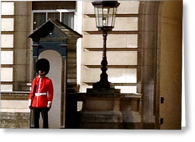 Family Buckingham Palace Greeting Cards - Buckingham Palace Guardsman Greeting Card by John Colley
