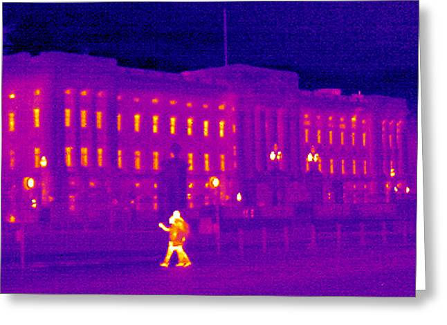 Thermography Greeting Cards - Buckingham Palace, Uk, Thermogram Greeting Card by Tony Mcconnell