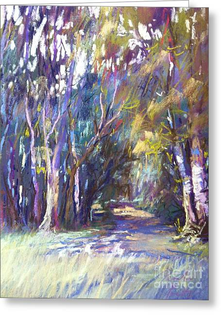 Australia Pastels Greeting Cards - Buckland Trail Greeting Card by Pamela Pretty