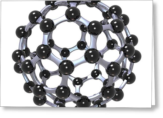 Russell Kightley Digital Greeting Cards - Buckminsterfullerene or Buckyball C60 18 Greeting Card by Russell Kightley