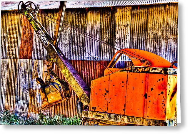 Old Relics Greeting Cards - Bucyrus Erie Shovel Greeting Card by Jon Berghoff